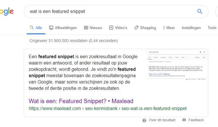 Zo bemachtig je een featured snippet